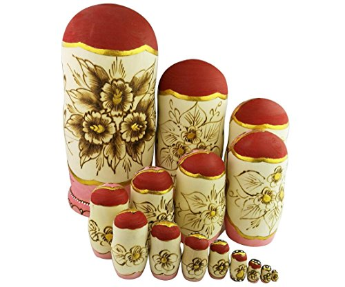 Set of 15 Wooden Girl Castle The Kremlin Traditional Russian Nesting Dolls Matryoshka Stacking Dolls Fun Toys for Kids Christmas Birthday Present Gift by Winterworm (Image #2)