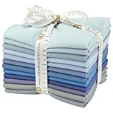 Robert Kaufman FQ-906-12 12 Piece Fat Quarter Bundle Kona Cotton Overcast Palette