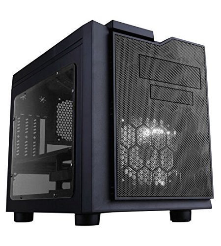 APEVIA X-QPACK3-CL Micro ATX Cube Gaming/HTPC Case, Supports Video Card up to 320mm/ATX PS, 2 x Clear Windows, USB3.0/USB2.0/HD Audio Ports, Flip Open Design, Dust Filter – Clear