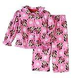 Disney Minnie Toddler Little Girls 2 Piece Button Down Flannel Pajama Set (4T)