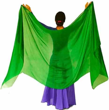 6980896dc Nahari Silks Womens 100% Silk Dance Scarves Shawls Wraps Solid Colors