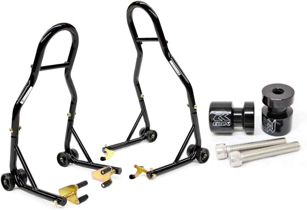 Venom Lowest price challenge Motorcycle Front+Rear Dual Lift - w Finally popular brand Spools Stand Compatibl