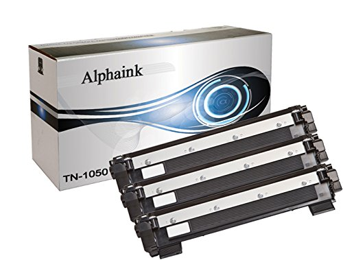 Alphaink KIT-3-AI-TN-1050 Kit 3 Toner compatibili per Brother HL1110, HL1112A, HL1210, DCP1510, DCP1512, DCP1512A, DCP1610, DCP1612, MFC1810, MFC1815, MFC1910W, MFC1910, 1.000 pagine