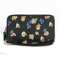 Coach Tea Rose Floral Double Zip Phone Wristlet F57977