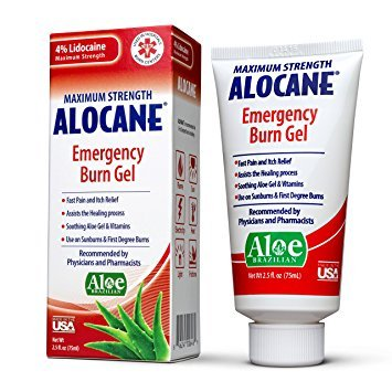 Alocane Maximum Strength Emergency Room Burn Gel, 2.5 Fluid Ounce - Pack of 5 by Alocane A