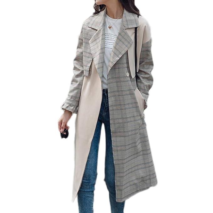 Cappotto Due Yr Giacca A R Quadri Pezzi Vento Medio Lungo nIpgFYaqp