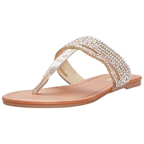 043af77745477 David s Bridal Crystal-Studded Thong Sandals Style IZZY