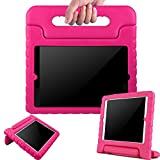 ipad 3 case with stand - BMOUO ShockProof Convertible Handle Light Weight EVA Protective Stand Kids Case for Apple iPad 4, iPad 3 and iPad 2 - Rose