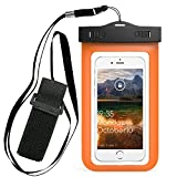 Universal Waterproof Armband Snowproof Case Dry Bag Kehon Fit iPhone 7 Plus 7 6s 6 Plus 5S Galaxy S7 Edge Note 4 5 HTC One LG G V20 ipod Touch MOTO 5.5-Inch Diagonal IPX6 Certified to 6.6 Feet(Orange)