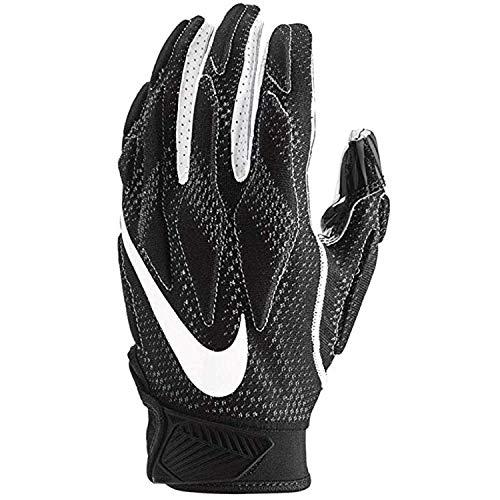 Nike Mens Superbad Sticky Magnigrip Receiver Football Gloves - Black White - X-Large