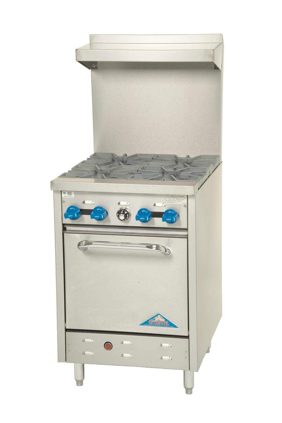 "24"" Commercial Gas Range 4 Burners & Std Oven"