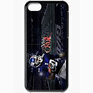 Personalized iPhone 5C Cell phone Case/Cover Skin 14357 new york giants victor cruz 80 by oldschoolcat d4kfc3s Black