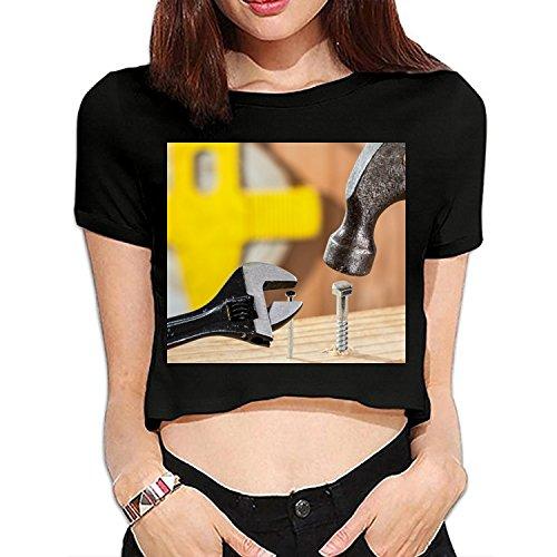 Baffled Close up Confused Summer Crop Tee Shirt Bare Midriff Sexy (Baffled Tee)