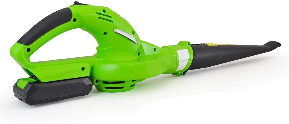 Updated SereneLife Electric Leaf Blower, Cordless, Lightweight - Only 5 lbs., Perfect for Leaves & Debris, Rechargeable Battery & Charger Included, Average Charge Time 4 Hrs, 18V, 55 Mph