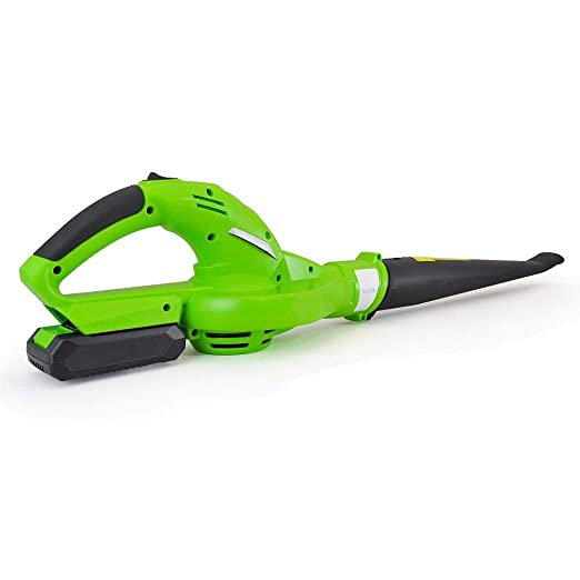 Updated SereneLife Electric Leaf Blower, Cordless, Lightweight - Only 5 lbs., Perfect for Leaves & Debris, Rechargeable Battery & Charger Included, ...