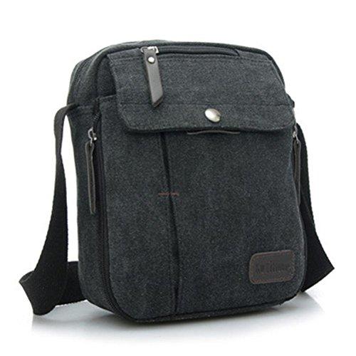 Vere Gloria Small Canvas Crossbody Shoulder Messenger Bag for Men Women Multicam Travel Hiking Daypack Fit for Ipad Mini Kindle 8