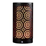 Magnetic LED Flame Effect Table Lamp USB Rechargeable Upside Down Fire Effect Stimulated Desk Light Portable Vintage Decoration Light Antique Lantern for Christmas Bar Hotel Restaurants Decorations