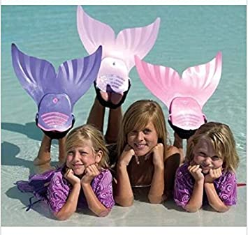 ZOMIAO Mermaid Swim Fins for Kids Adults Monofin One-Piece Flipper Swimming Mermaid Tail with Flipper Diving Fins