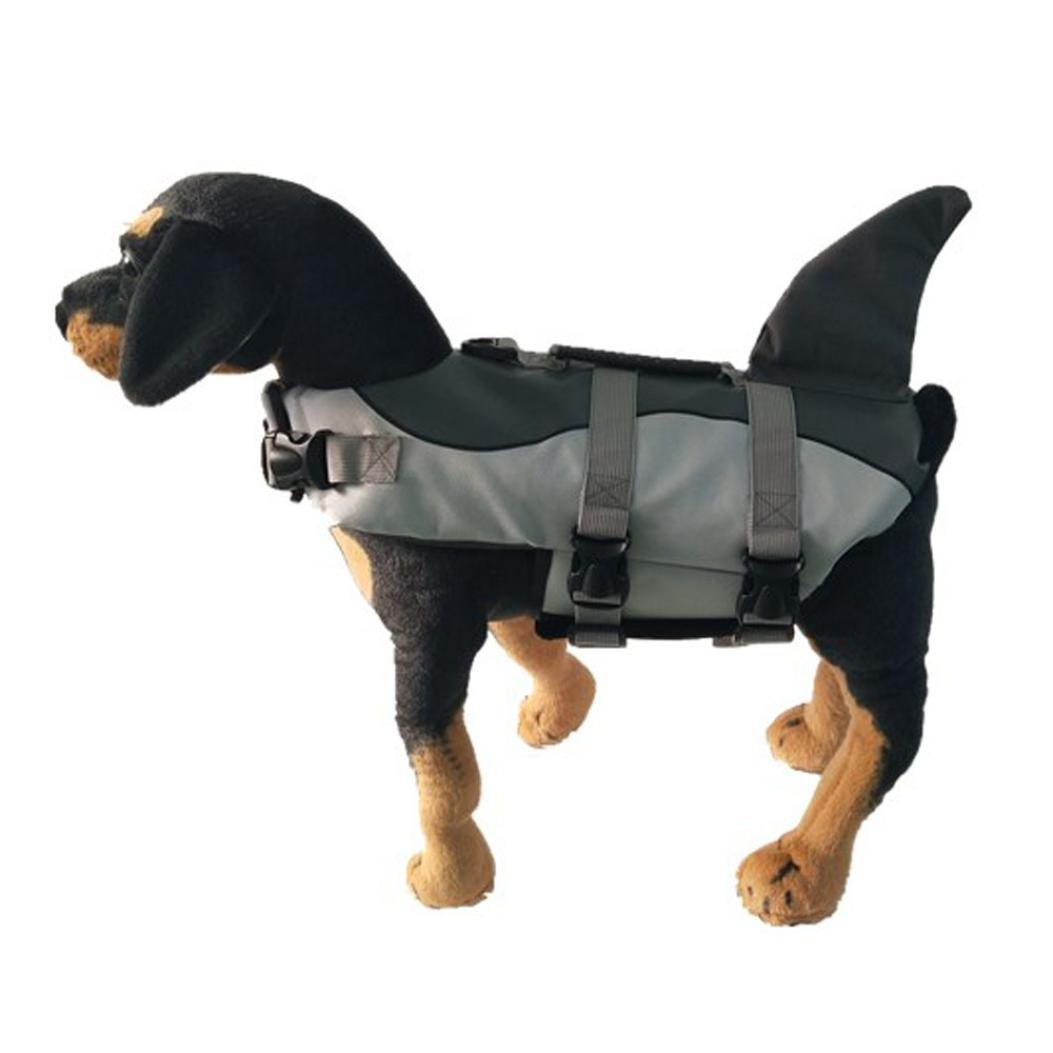 Morecome Pet Life Jacket,Pet Outward Adjustable Dog Life Jacket with Rescue Handle (Back Length:35cm, A)