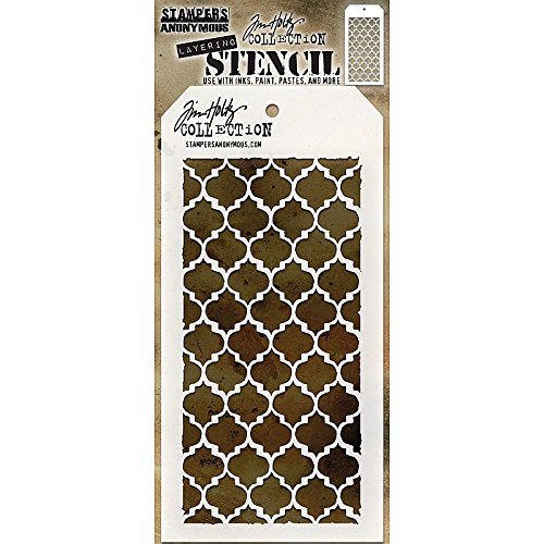 Stampers Anonymous THS074 Tim Holtz Layered Stencil 4.125X8.5-Trellis