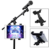 "Xcellent Global Universal 7""-11"" Tablet iPad Holder for Mic Microphone Stand, Bike Bicycle Mount CA039"