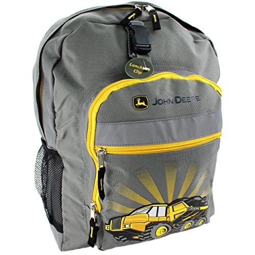 John Deere Equipment (John Deere Boys' Construction Equipment Backpack, Medium Grey)