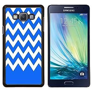 Dragon Case - FOR Samsung Galaxy A7 - Blue and white - Caja protectora de pl??stico duro de la cubierta Dise?¡Ào Slim Fit