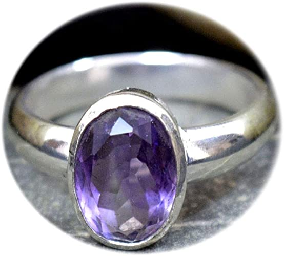 NATURAL AMETHYST RING Febuary Birthstone Ring,Purple Amethyst,African Amethyst,Engagement Ring,Handmade Ring,Natural Sterling Silver Ring