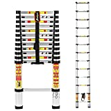 3.8 M Telescopic Aluminium Extendable Ladder With Finger Protection Gaps and Conforms to EN131 and CE Standards by Anordsem