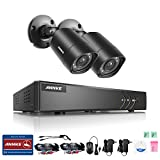 quick build ch - ANNKE Security Camera System with 4 CH 720P DVR and (2) Security Cameras Outdoor Weatherproof , 100ft Night Vision -IR Cut build in, Quick Remote Access via Smartphone--No HDD