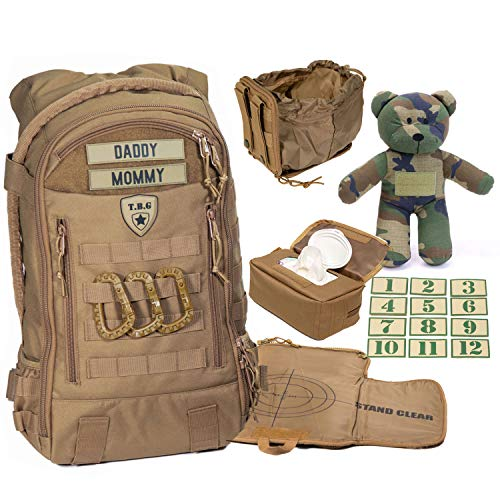 Tactical Baby Gear Daypack 3.0 Full Load Out Tactical Diaper Bag Backpack Set (Coyote Brown) from Tactical Baby Gear