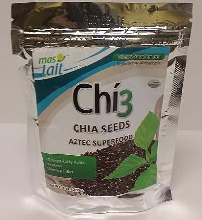 Amazon.com: 2 Bags Chi3 - Chia Seed 8 Oz Ea(omega 3 -Protein ...