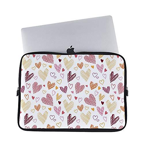 671ffdfcd442 Amazon.com: DKISEE Abstract Hearts Pattern Neoprene Laptop Sleeve ...