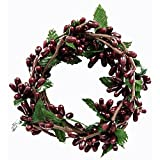 CWI Gifts 4-Piece Pip Berry Ring Set, 2 by 6-Inch, Burgundy