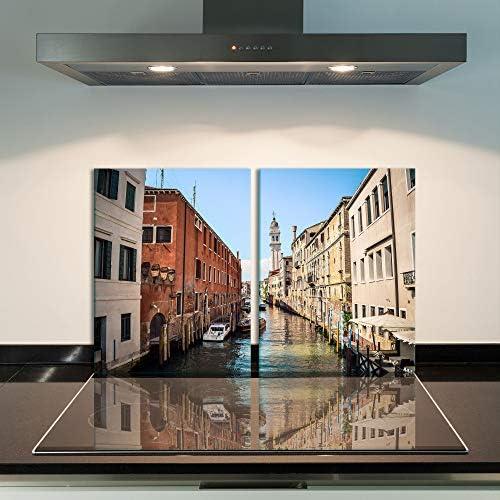 Tabla para Cubrir la vitrocerámica, 2 Piezas, 2 x 40 x 52 cm, diseño de Arquitectura, Color marrón: Amazon.es: Hogar