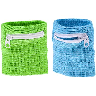 Pack Zipper Wallet Wristband Pouch Pocket Sweatband for Outdoor Sports Running Fitness Climbing Walking Cycling Green Blue Estimated Price £3.76 -
