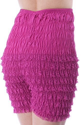 Malco Modes Womens Ruffle Panties Bloomers Dance Bloomers for Sissy Victorian (X-Large, Berry) -