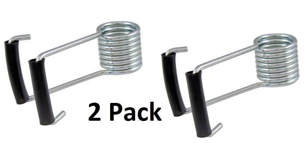 Keeps All Doors Closed Wing Spring Door Closer 5-1//4 Pack of 2 Rubber Sleeves on Wing Butterfly Spring Fits on All Door Butt Hinge Pins