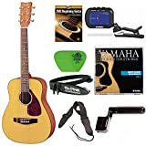 Yamaha JR1 3/4 Size Steel String Beginners Acoustic Guitar Bundle with Gig Bag, Yamaha Tuner, Yamaha Strings, Strap, Winder, Picks and Beginner DVD