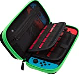 Butterfox Carry Case for Nintendo Switch, Fits AC Power Adapter Wall Charger, 29 Game Cartridge and 2 Mirco SD Card Holders, Large Secure Mesh Pouch for Nintendo Switch Accessories - Neon Green/Black