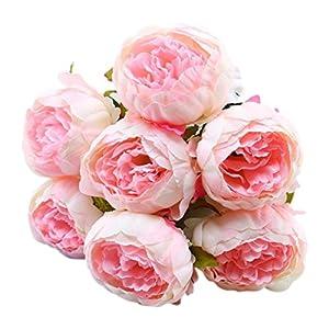 ZTTONE 1 Bouquet Vintage Artificial Peony Silk Flowers Bouquet For Home Decor Party Centerpieces Decoration 47