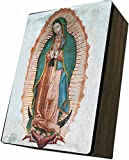Catholic to the Max|Lady of Guadalupe Cover, 4x6.5x2.5in Wooden Keepsake Rosary Jewelry Box, Suede Matte