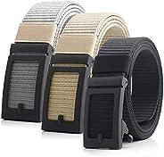 Mens Ratchet Belt Golf Belt with Adjustable Automatic Slide Nylon Mens Belts Casual