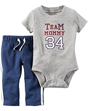 Carter's 2 Piece Set, Team Mommy