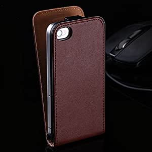New Retro Flip Real Leather Case For iphone 5c Genuine Cowhide Matte Plain Luxury Phone Accessories Cover Bag for Apple iphone5c --- Color:White