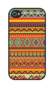 iZERCASE Colorful Aztec Pattern iphone 4 case - Fits iphone 4 & iphone 4s