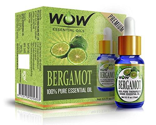 WOW 100% Pure Bergamot Essential Oil - 15ml / 0.5 oz - Therapeutic Grade