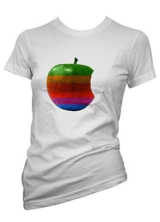 Lustige Witzige Coole Sprüche Fun T Shirts APPLE (TSL1025) Damen T