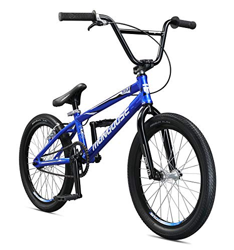 Mongoose Title Pro BMX Race Bike for Beginner to Intermediate Riders, Featuring Lightweight Tectonic T1 Aluminum Frame and Internal Cable Routing with 20-Inch Wheels, Blue - Mongoose Bmx Bike