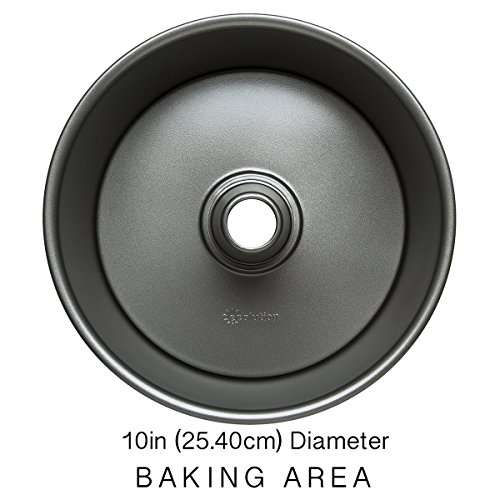 """Ecolution Bakeins Angel Food Cake Pan – PFOA, BPA, and PTFE Free Non-Stick Coating – Heavy Duty Carbon Steel – Dishwasher Safe – Gray – 9.5"""" x 9.5"""" x 4.125"""" by Ecolution (Image #2)"""
